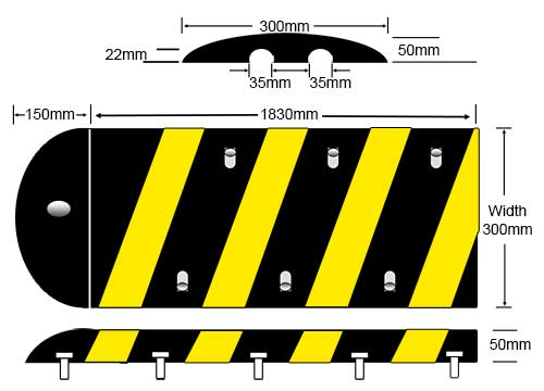 Speed Hump Cable Protector Specifications