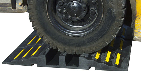 Hose Ramp with Forklift