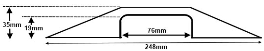 Medium Sidewinder Cable Protector Specifications