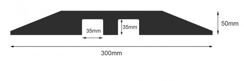 2 Channel Dropover Cable Protector Specifications